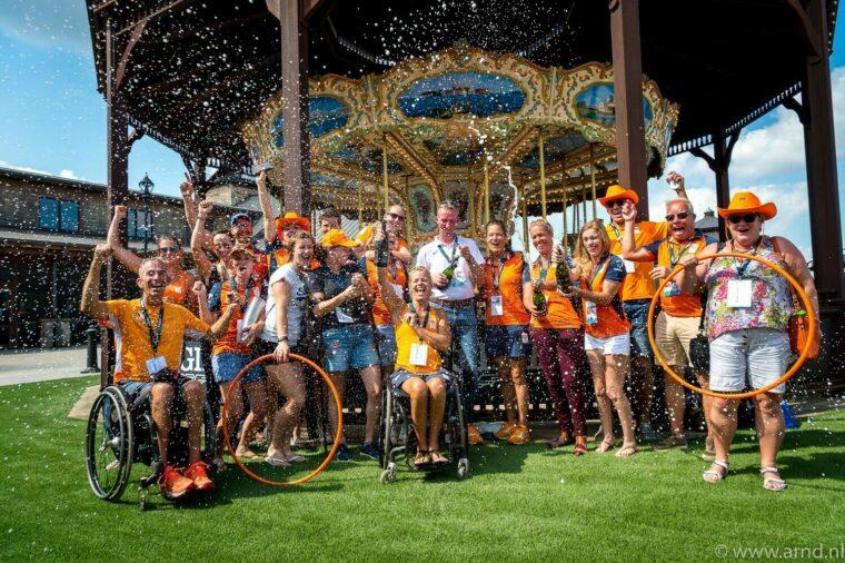 Team Netherlands celebration