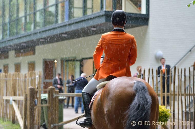 Oranje regen Border Maker